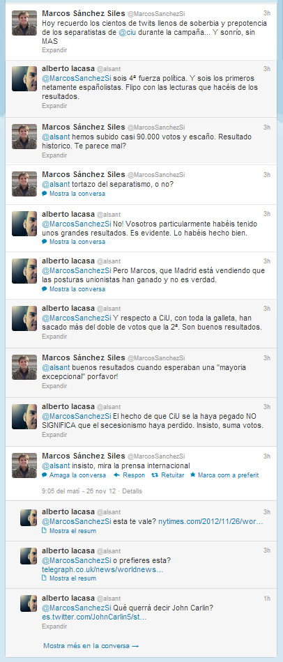 twitter con Marcos