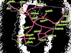 Mapa AVE